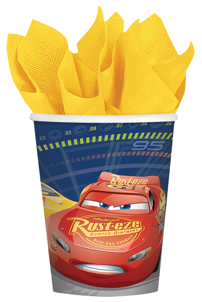 Featured Image for 9oz Disney Cars 3 Cups – Pack of 8