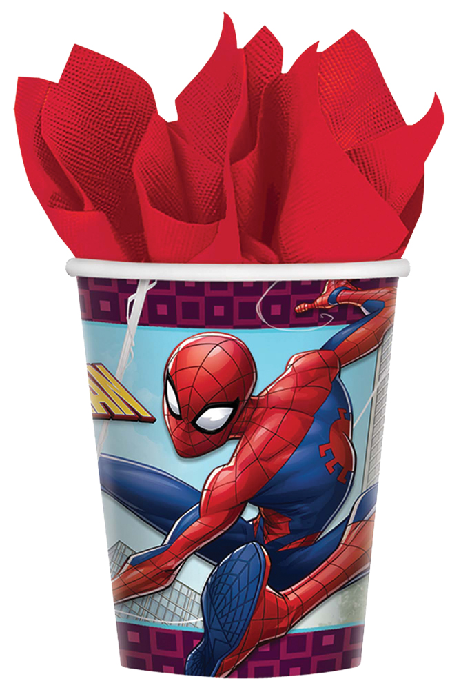 Featured Image for 9oz Spider-Man Cups – Pack of 8