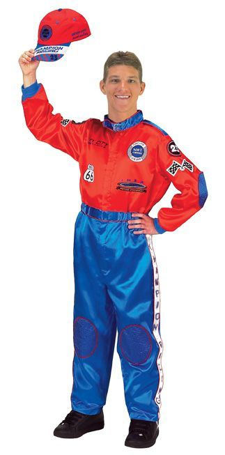 Featured Image for Men's Red & Blue Racing Suit