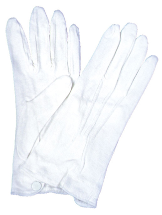 Featured Image for White Cotton Gloves with Snap