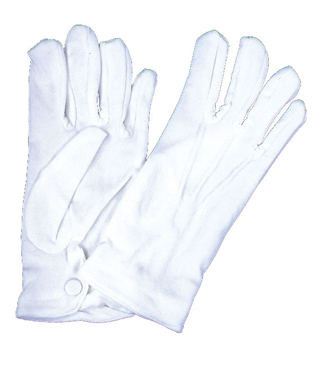 Featured Image for Men's White Nylon Gloves with Snap