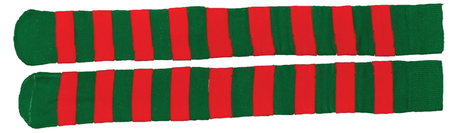 Featured Image for Christmas Red & Green Striped Socks