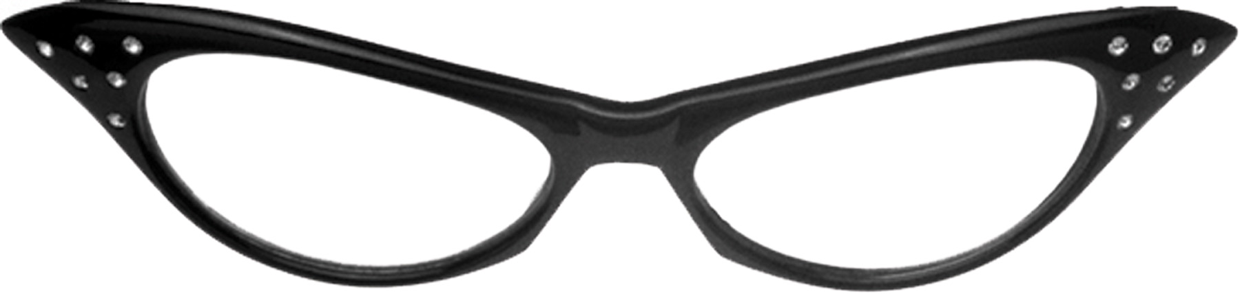 Featured Image for Black 50s Rhinestone Glasses