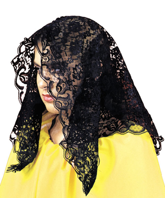 Featured Image for Black Mantilla Lace Scarf
