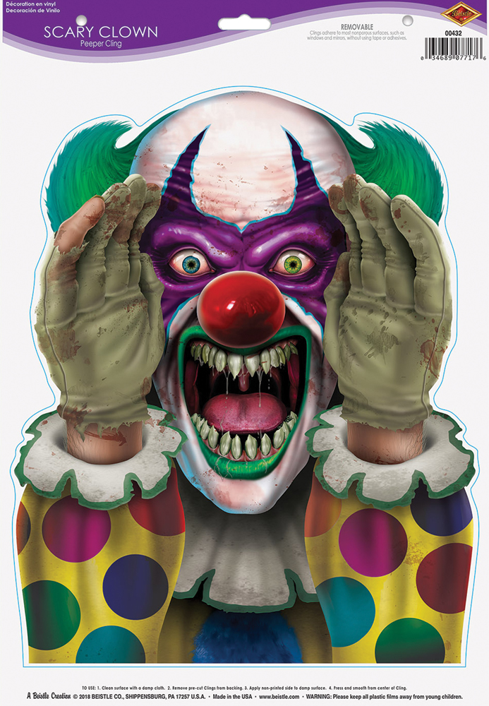 Featured Image for Scary Clown Peeper Clings