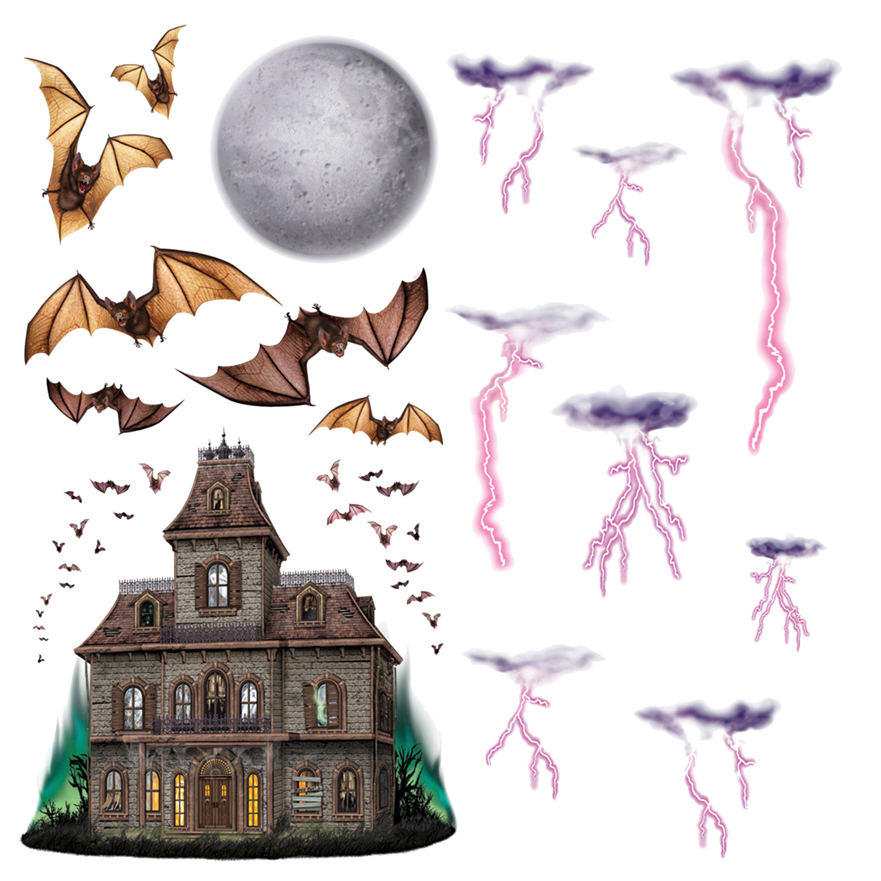 Featured Image for Haunted House Night Sky Props
