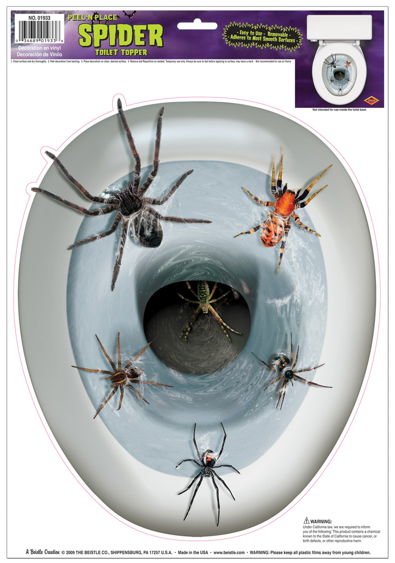 Featured Image for Spider Toilet Topper Peel N Pl