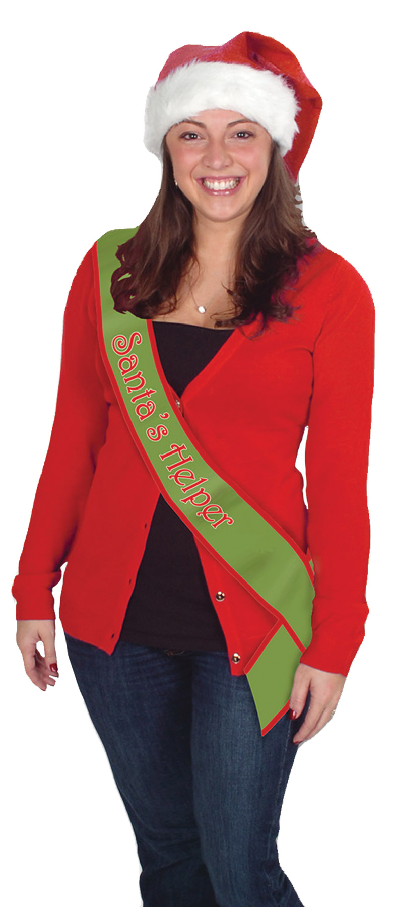 Featured Image for Santa Helper Satin Sash