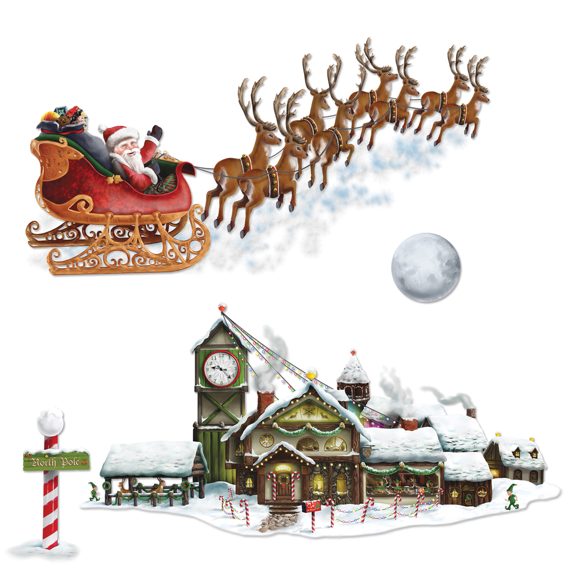 Featured Image for Santa Sleigh Workshop Props