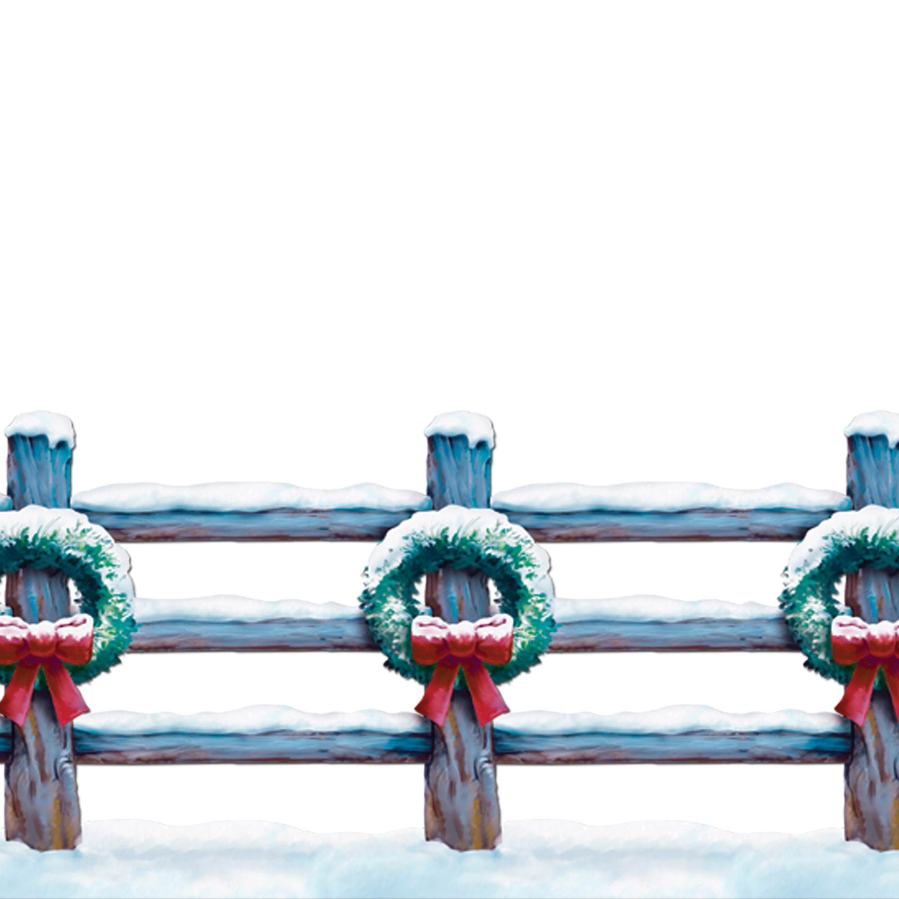 Featured Image for Holiday Fence Border