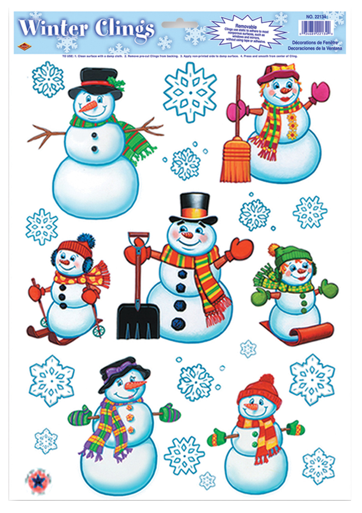 Featured Image for Snowman/Snowflake Clings
