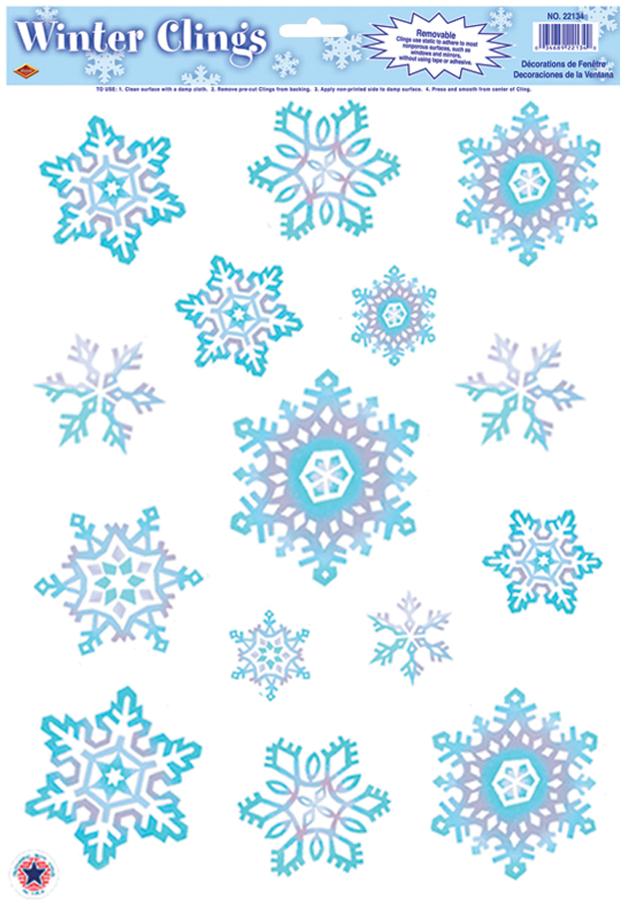 Featured Image for Crystal Snowflake Clings