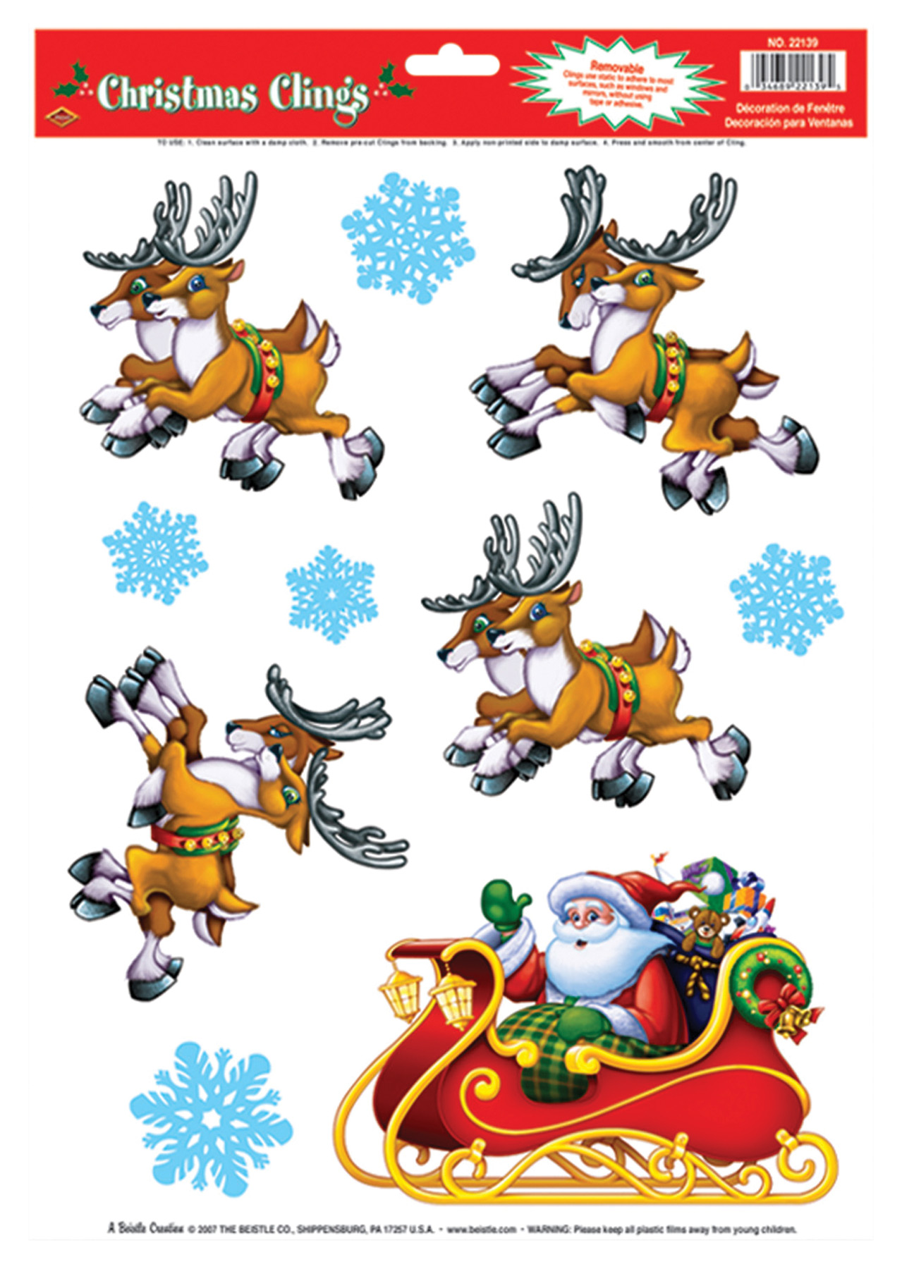 Featured Image for Santa Sleigh Clings