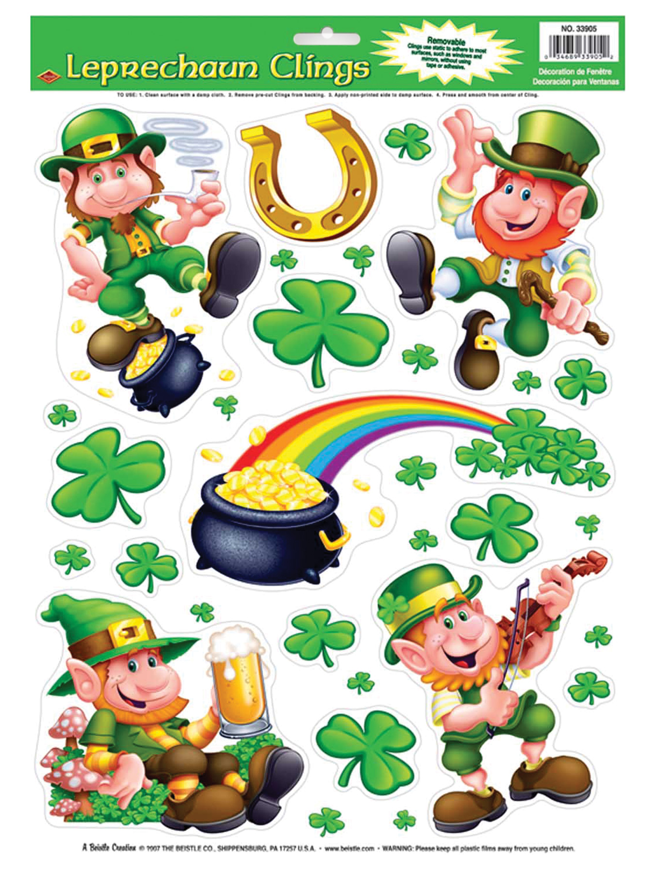 Featured Image for Leprechaun Shamrock Clings
