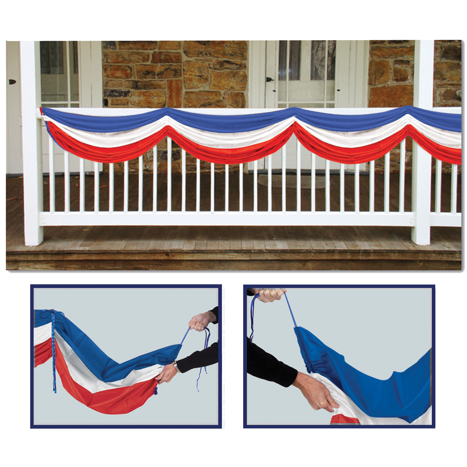 Featured Image for Patriotic Fabric Bunting