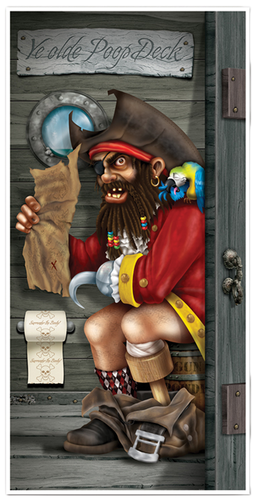 Featured Image for Pirate Restroom Door Cover