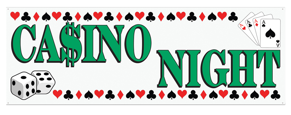 Featured Image for 5′ X 21″ Casino Night Banner