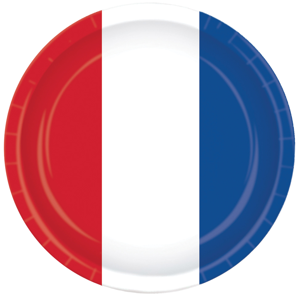 Featured Image for 9″ Red White Blue Plates – Pack of 8