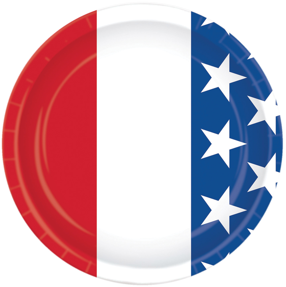 Featured Image for 7″ Patriotic Plates 8ct