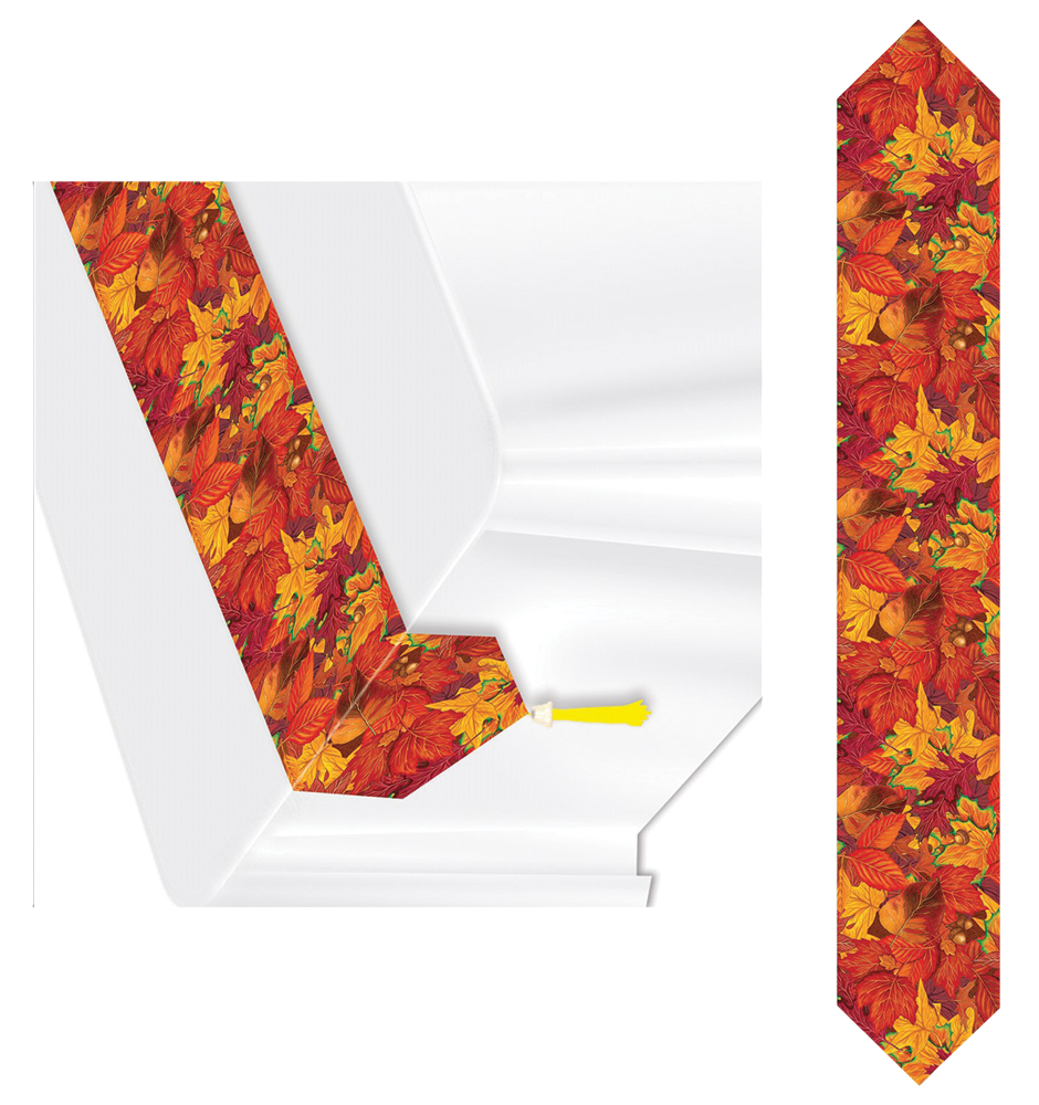 Featured Image for Printed Fall Leaf Table Runner