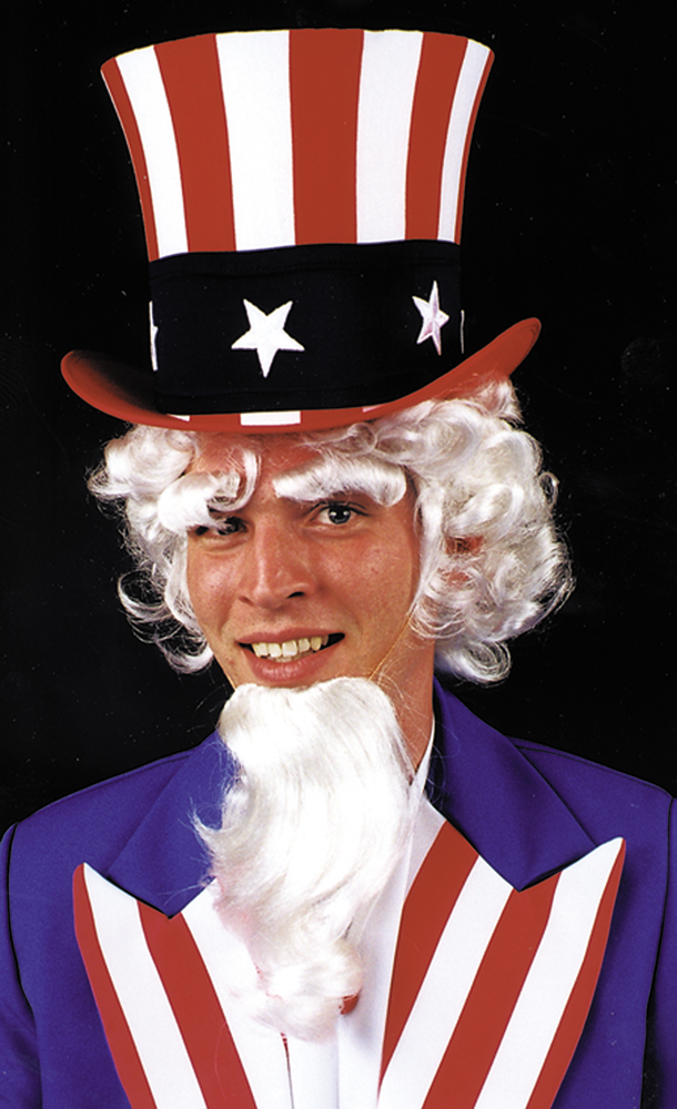 Featured Image for Uncle Sam Wig, Goatee & Eyebrows Set